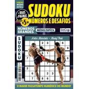 Sudoku Números e Desafios Ed. 127 - Médio/Difícil - Só Jogos 9x9 - Números Grandes - Artes Marciais - Muay Thai