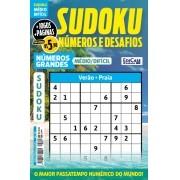 Sudoku Números e Desafios Ed. 129 - Médio/Difícil - Só Jogos 9x9 - Números Grandes - Verão - Praia
