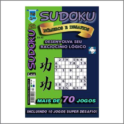 Sudoku Números e Desafios - Edição 92 - Fácil/Médio  - Case Editorial