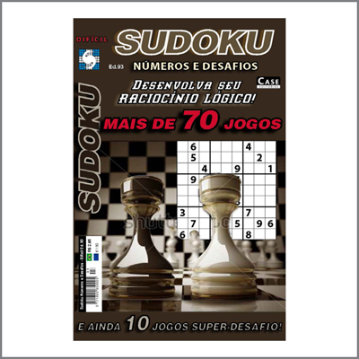 Sudoku Números e Desafios - Edição 93 - Difícil  - EdiCase Publicações
