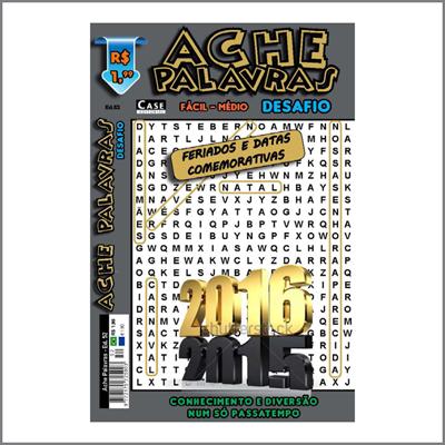 Ache Palavras - Edição 52 - Fácil/Médio  - Case Editorial