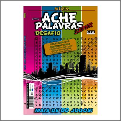 Livro Ache Palavras Desafio Super - Edição 17 - Médio  - EdiCase Publicações