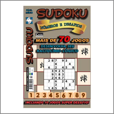 Sudoku Números e Desafios - Edição 94 - Fácil/Médio  - EdiCase Publicações