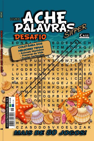 Livro Ache Palavras Desafio Super  - EdiCase Publicações