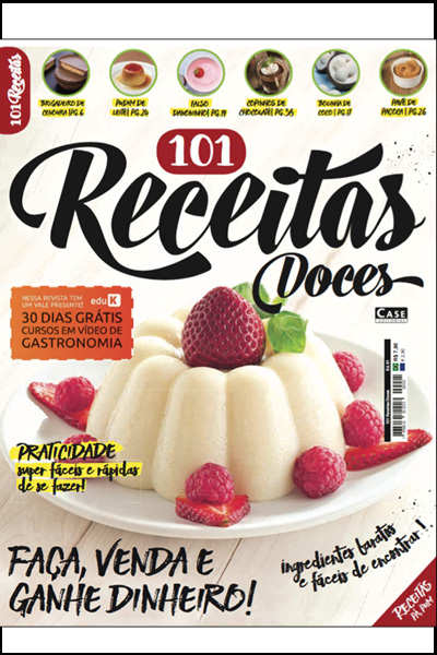 101 Receitas Doces - Edição 01  - Case Editorial