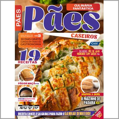 Culinária Fantástica - Ed. 01 (Pães Caseiros)  - EdiCase Publicações