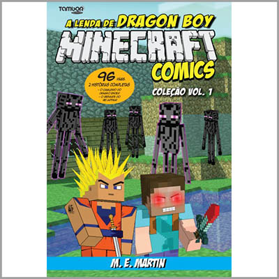 Minecraft Comics Coleção: A Lenda de Dragon Boy - Vol. 01  - Case Editorial