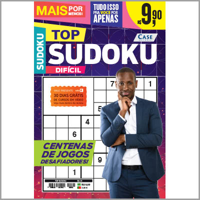 Top Sudoku - Ed. 01 (+5 revistas sortidas de sudoku)  - Case Editorial