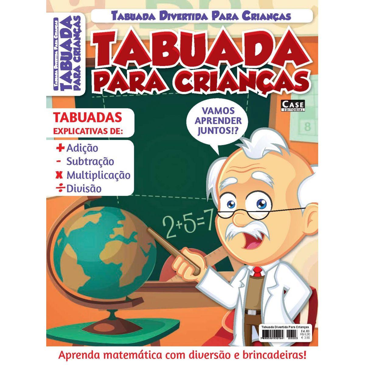 Tabuada Divertida Para Crianças - Edição 03  - EdiCase Publicações
