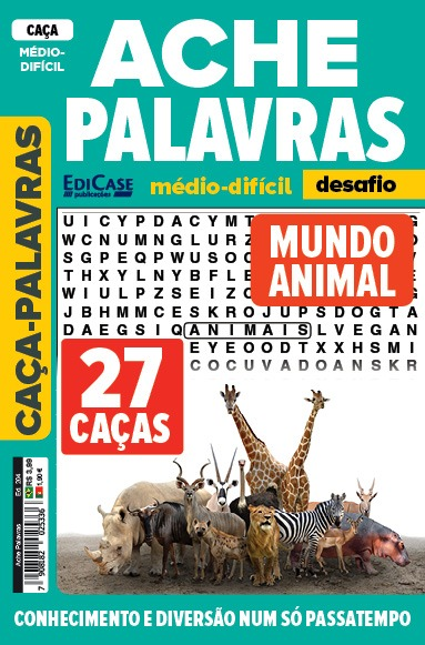 Ache Palavras Ed. 204 - Médio/Difícil - Mundo Animal