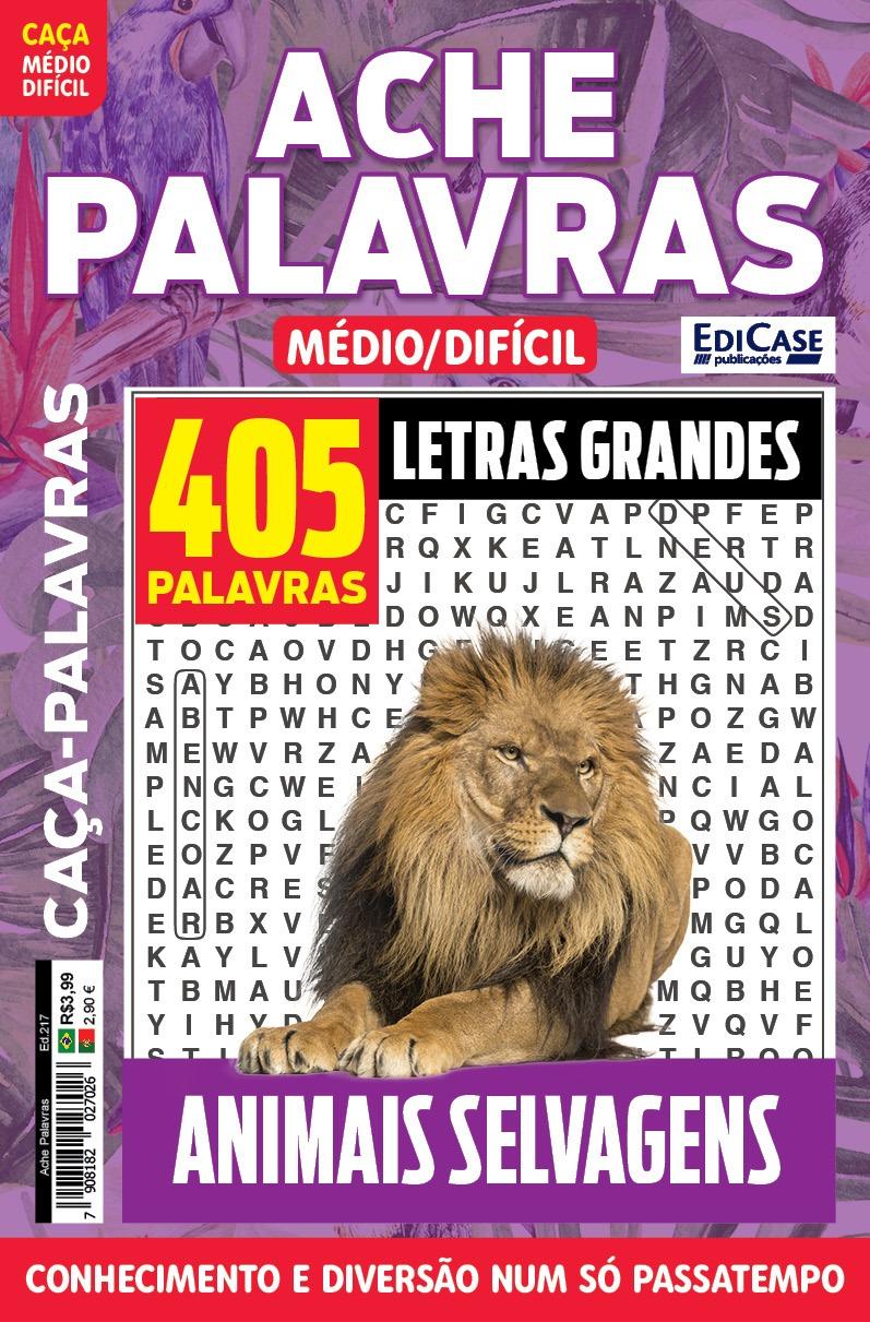 Ache Palavras Ed. 217 - Médio/Difícil - Animais Selvagens