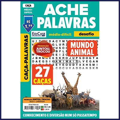 Ache Palavras Ed. 64 - Médio/Difícil - Tema: Mundo Animal  - EdiCase Publicações