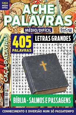 Ache Palavras Ed. 68 - Médio/Difícil - Letras Grandes - Tema: Bíblia - Salmos e Passagens  - EdiCase Publicações