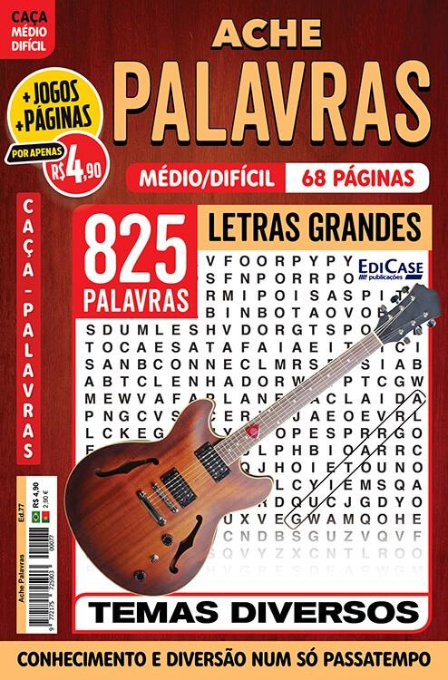 Ache Palavras Ed. 77 - Médio/Difícil - Letras Grandes - Diversos