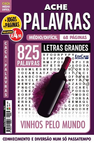 Ache Palavras Ed. 78 - Médio/Difícil - Letras Grandes - Vinhos pelo Mundo