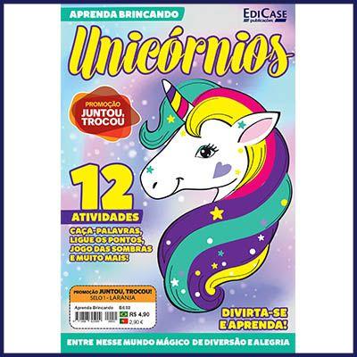 Aprenda Brincando Ed. 03 - Unicórnios  - EdiCase Publicações