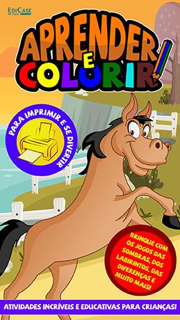 Aprender e Colorir Ed. 22 - Desenhos - PRODUTO DIGITAL (PDF)