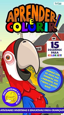 Aprender e Colorir Ed. 23 - Desenhos - PRODUTO DIGITAL (PDF)