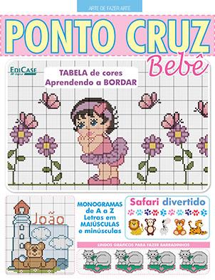 Arte de Fazer Arte Ed. 53 - Ponto Cruz Bebê - *PRODUTO DIGITAL (PDF)