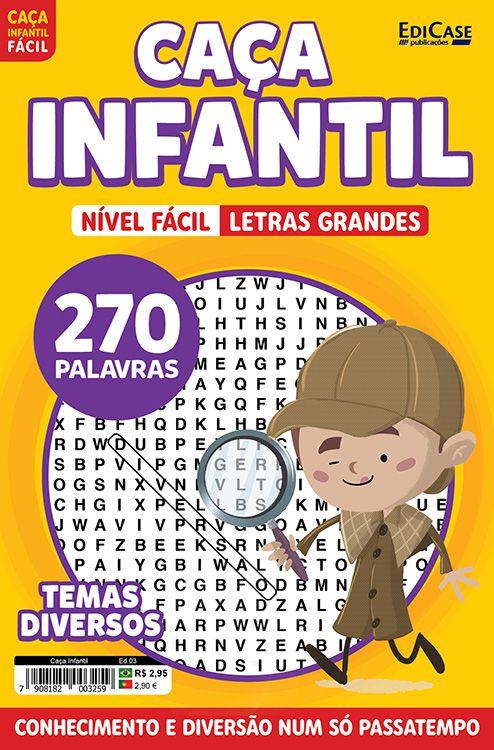 Caça Infantil Ed. 03 - Fácil - Temas Diversos  - EdiCase Publicações