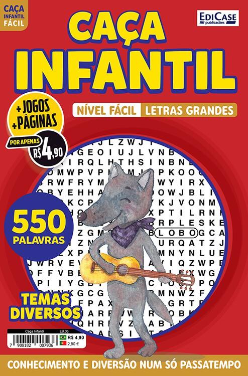Caça Infantil Ed. 06 - Fácil - Letras Grandes - Temas Diversos  - EdiCase Publicações