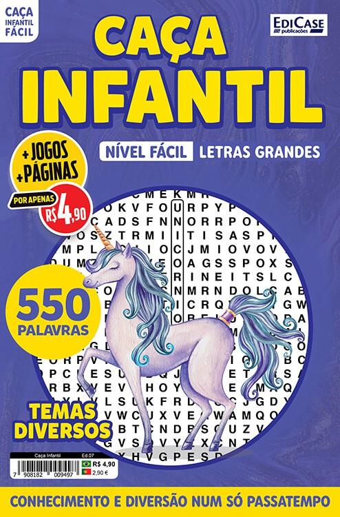 Caça Infantil Ed. 07 - Fácil - Letras Grandes - Temas Diversos  - EdiCase Publicações
