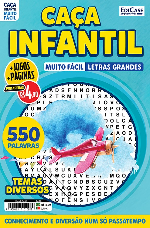 Caça Infantil Ed. 08 - Muito Fácil - Letras Grandes - Temas Diversos