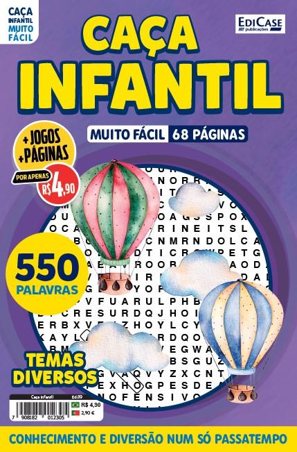 Caça Infantil Ed. 09 - Muito Fácil - Letras Grandes - Temas Diversos