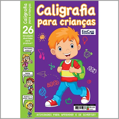 Caligrafia Para Crianças Ed. 30   - EdiCase Publicações