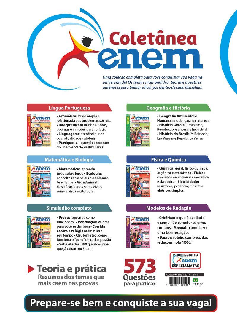 Coletânea ENEM - 6 Volumes - Lançadas em 2018