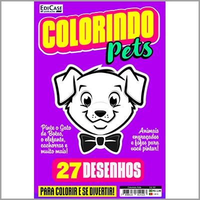 Colorindo Pets Ed. 02 - 27 Desenhos  - EdiCase Publicações