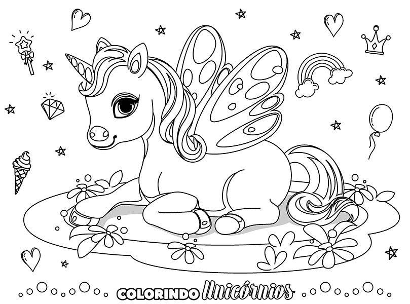 Colorindo Unicórnios Ed. 01 - Pôster Para Colorir  - EdiCase Publicações