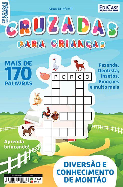 Cruzada Infantil  Ed. 03 - Mais de 170 Palavras  - EdiCase Publicações