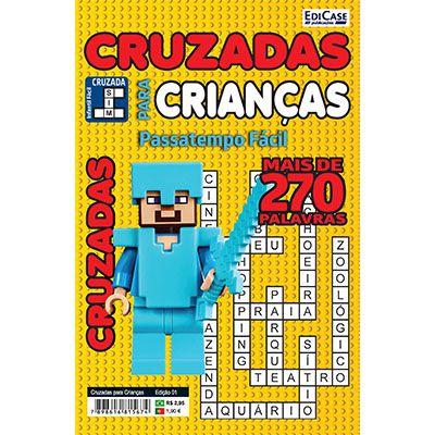 Cruzadas Para Crianças  Ed. 01 - Passatempo Fácil  - EdiCase Publicações
