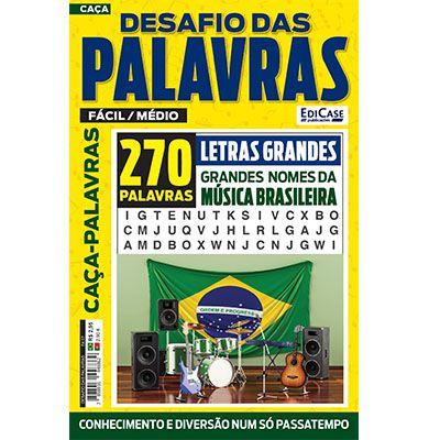 Desafio das Palavras Ed. 07 - Fácil/Médio - Tema: Grandes Nomes da Música Brasileira - Letras Grandes  - EdiCase Publicações