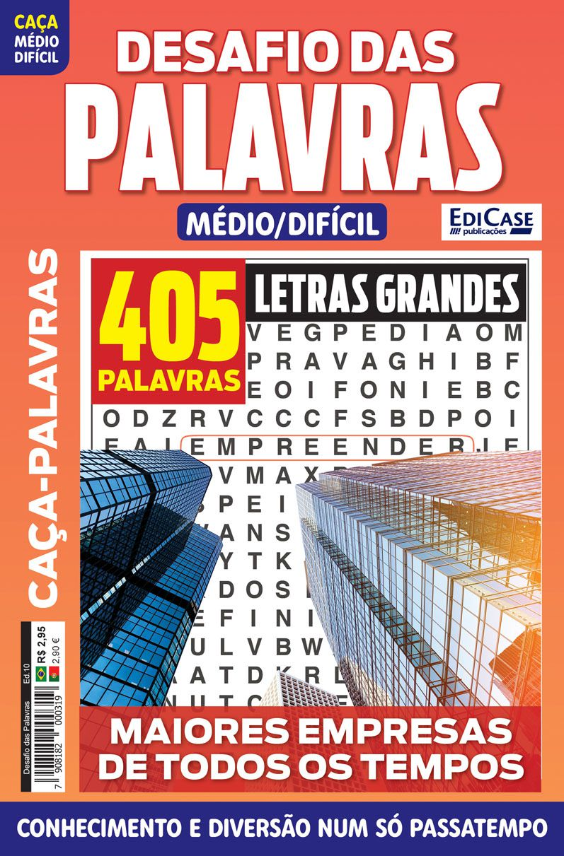 Desafio das Palavras Ed. 10 - Médio/Difícil - Letras Grandes - Tema: Maiores Empresas de Todos os Tempos  - EdiCase Publicações