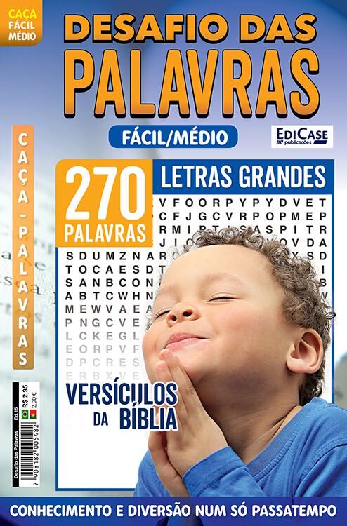 Desafio das Palavras Ed. 15 - Fácil/Médio - Letras Grandes - Versículos da Bíblia  - EdiCase Publicações