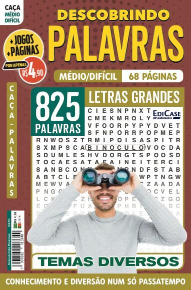 Descobrindo as Palavras Ed. 50 - Médio/Difícil - Letras Grandes - Temas Diversos