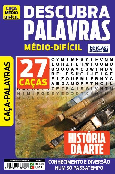 Descubra Palavras Ed. 208 - Médio/Difícil - Tema: História da Arte
