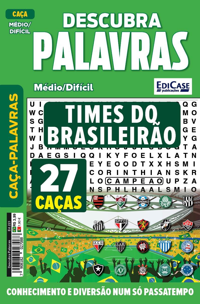 Descubra Palavras Ed. 223 - Médio/Difícil - Times do Brasileirão