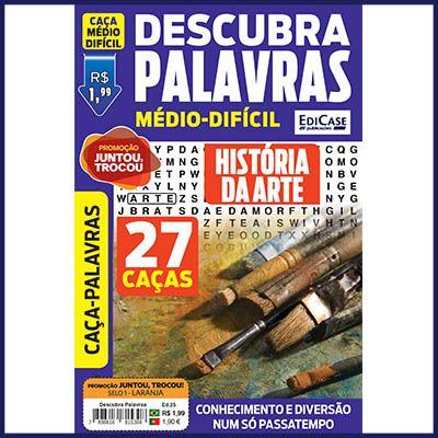 Descubra Palavras Ed. 25 - Médio/Difícil - História da Arte  - EdiCase Publicações