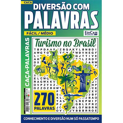 Diversão Com Palavras Ed. 22 - Fácil/Médio - Turismo no Brasil  - EdiCase Publicações