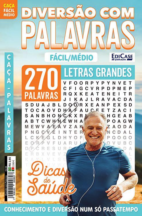 Diversão Com Palavras Ed. 28 - Fácil/Médio - Letras Grandes - Tema: Dicas de Saúde