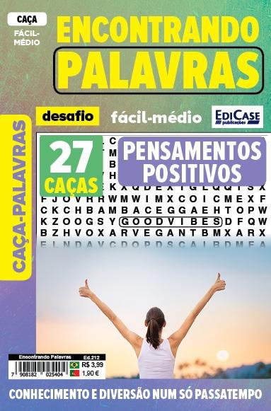 Encontrando Palavras Ed. 212 - Fácil/Médio - Pensamentos Positivos