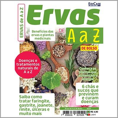 Ervas de A a Z de Bolso Ed. 01 - Benefícios das Ervas e Plantas Medicinais  - EdiCase Publicações