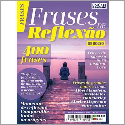 Frases de Reflexão de Bolso Ed. 01 - 400 Frases  - EdiCase Publicações