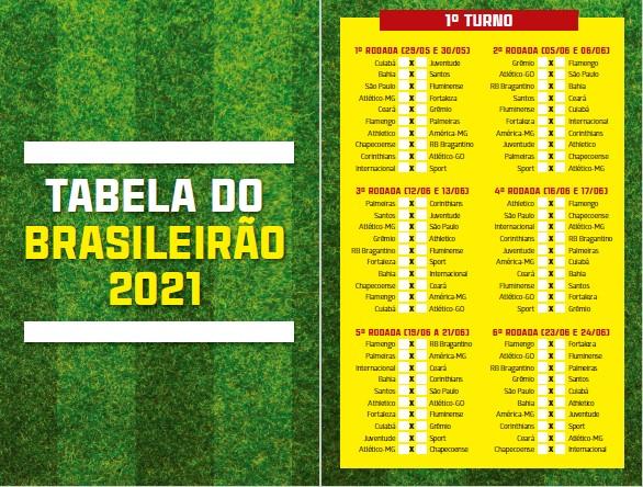 Guia Tabela do Brasileirão Ed. 01 - 2021 - PRODUTO DIGITAL (PDF)