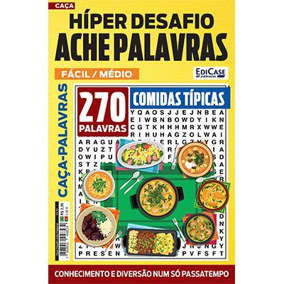 Hiper Desafios Ache Palavras Ed. 55 - Fácil/Médio - Tema: Comidas Típicas  - EdiCase Publicações