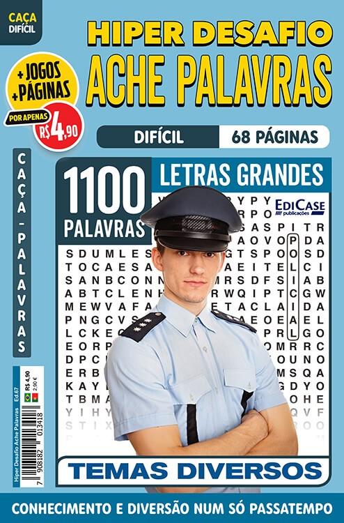 Hiper Desafios Ache Palavras Ed. 67 - Difícil - Letras Grandes - Temas Diversos
