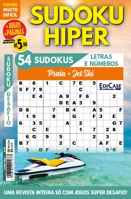 Kit c/ 11 Revistas Sudoku - Muito Difícil - com letras e números 16x16 1 jogo por página